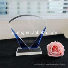 plaque de cristal, bloc de verre blanc, cadre photo, impression 3d cadeaux souvenirs de mariage