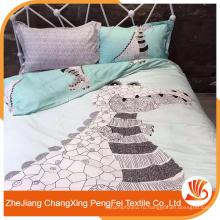 Мода 100% полиэстер животных печатных постельное белье ткань для продажи