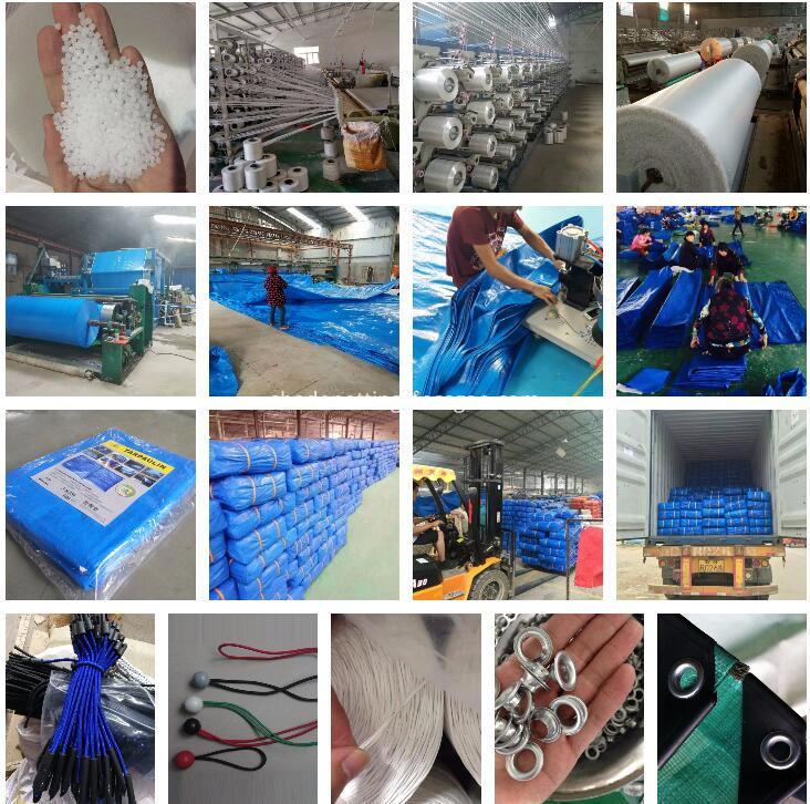 PE tarpaulin production