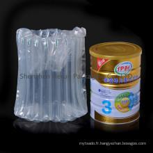 Sac à bulles pour emballage de lait en poudre