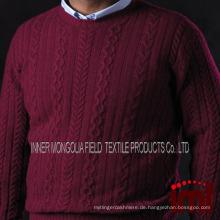 Männer Kaschmir Aran Kabel Crewneck Pullover