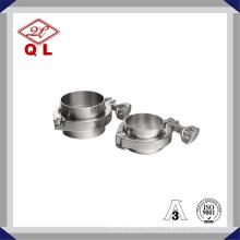 Sanitária aço inoxidável 304 316L Tri Clamp Pipe Clamp para equipamentos de processamento de laticínios