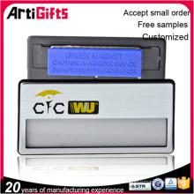 Nouveau produit aluminium blanc nom magnétique badge