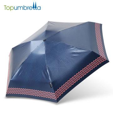 Guarda-chuva de dobramento do guarda-chuva da forma do presente de UPF 50+