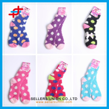 2015 winter ladies's terry microfiber cozy thick socks custom logo