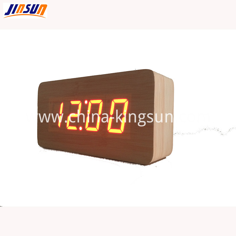 Wooden Led Clock Ksw105 4
