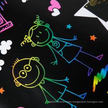 Wholesale price customized print handcraft foam sheets scratch black art paper  eva sheet