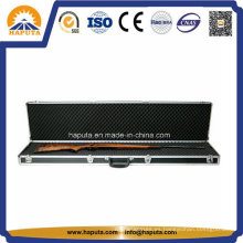 Caja de pistola táctica de aluminio negro con esponja en el interior (HG-2505)