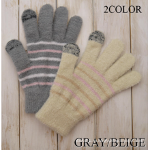 La venta caliente cepilló los guantes calientes de las señoras al aire libre del invierno