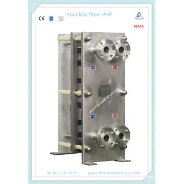 Intercambiador de calor de placas compactas sanitarias para alimentos, bebidas y cereales (M10, M15)