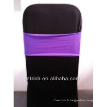 housses de chaises pas cher président jupettes, magnifique bande de Spandex, Lycra Band, violet
