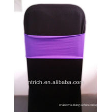 cheap chair covers chair sashes,Gorgeous Spandex Band,Lycra Band,purple