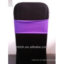 cadeira barata cobre faixas de cadeira, linda banda de elastano, Lycra banda, roxo