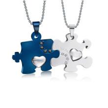 Модный двухсторонний четкий медальон двойной кулон ювелирные изделия