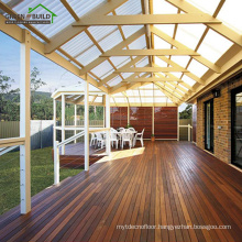 Chestnut color smooth crack-resistant solid merbau garden decking