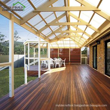 Chestnut color smooth crack-resistant solid merbau garden decking