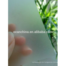 Dünnes klares geprägtes PVC-Blatt, 3 * 4 Größe prägeartiges steifes PVC-Blatt für Platte
