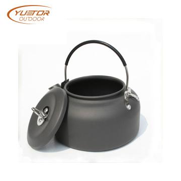 Pote al aire libre de aluminio anodizado del té de la caldera del Bbq 1.4L