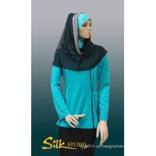 Chaqueta musulmana de la capilla de la manera del bordado Tudung Hijab