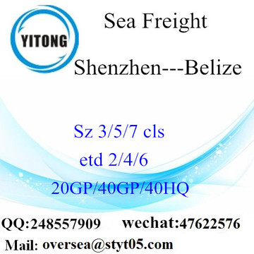 Shenzhen Port Sea Freight Shipping para Belize