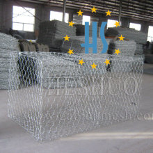 Stone Filled Gabion Cage