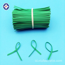 Flat Single Wire Twist tie untuk Paper Packing