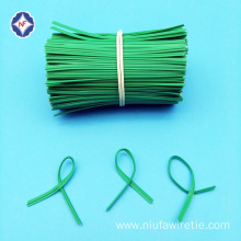 Flat Single Wire Twist tie for Paper Packing