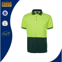 Hi Vis Two Tone Color Work Polo Shirt