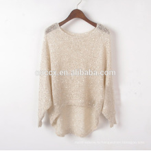 женщины весна лето легкий вес открыть отверстия свитер топы с пайетками