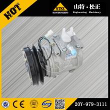 Komatsu pièces compresseur d'air d'origine D85A-21 20Y-979-3111