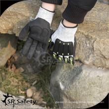 SRSAFETY черный menchanic перчатки анти-ударные перчатки в фарфоровые рабочие перчатки / рука защитные перчатки