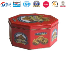 Popular Round Cookie Packing Metal Tin Cans Jy-Wd-2015120919