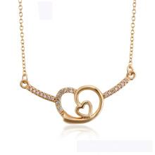 44592 Großhandel xuping Mode Herz Halskette 18K Gold Farbe Herzförmige elegante Halskette