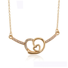 44592  wholesale xuping fashion heart necklace 18K gold color Heart-shaped  elegant necklace