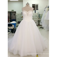 Brand New Real Sample Bridal Wedding Dress with Sparking Neckline