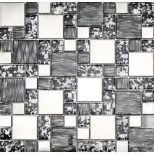 Sliver Stainless Steel Glass Mosaic