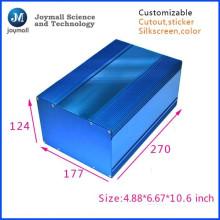 Boite en fonte d'aluminium de couleur bleue