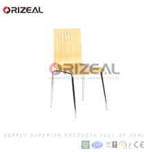 Высокое качество древесины и металлический стул для столовой