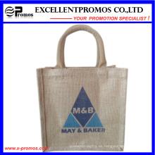 Logotipo ecológico Bolsa de yute promocional personalizada (EP-B581704)