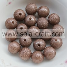 Round Favorable Beautiful Acrylic Crystal Beads Opaque Brown 8MM Acrylic Beads Necklace