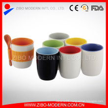 Wholesale Color Galzed Coffee Mug Spoon in Handle