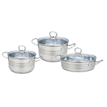 Stainless Steel Casserole With Liner Handle And Knobs
