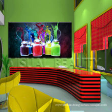 High Quality Colorful Bottles Canvas Art For Bar Decor