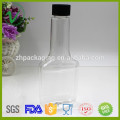 PET SGS approved promotional refillable flat black empty plastic fuel additive bottle with screw cap