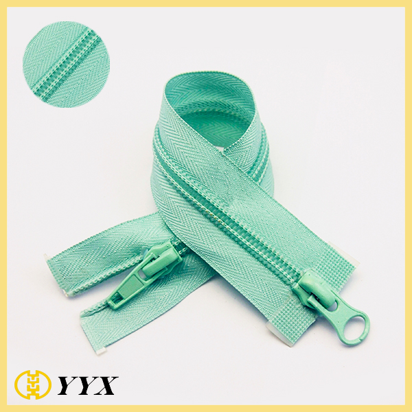 CFM 2 way open end nylon coil zipper