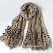Moda llanura Venta superior hijab musulmán rayon bandhnu hijab bufanda del mantón