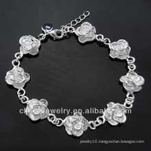 Wholesale Sterling Silver Fashion Jewelry Silver Plated Bracelet With charms BSS-028