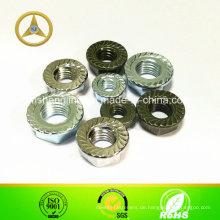 DIN6331 Hexagon Nut, 1,5 D mit Kragen, verzinkt.