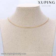 42609 Xuping Fine Jewelry Men Chain Necklace con 18 quilates de oro plateado
