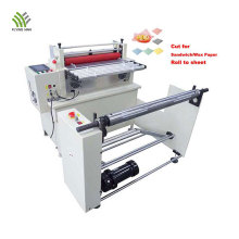 PLC controlled label roll to sheet cutting machine